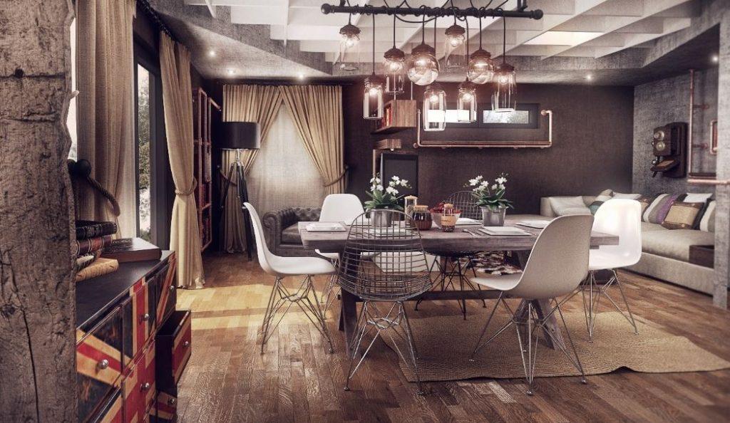 mẫu thiết kế nội thất theo phong cách hoài cổ