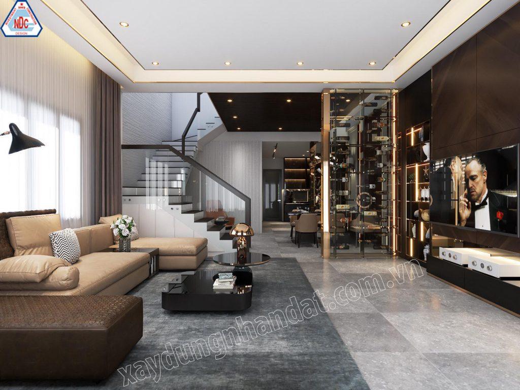 Không gian thiết kế phòng khách đẹp