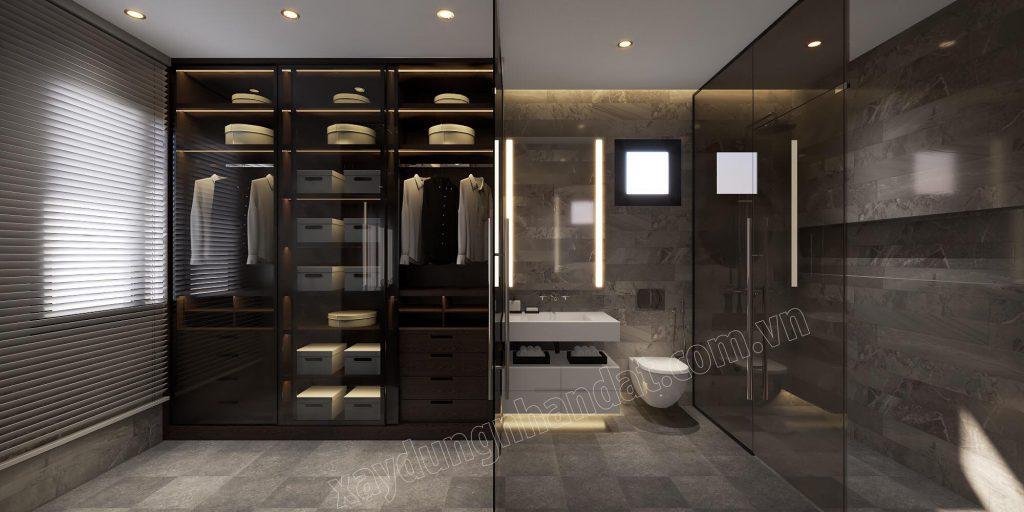 Không gian nội thất màu tối