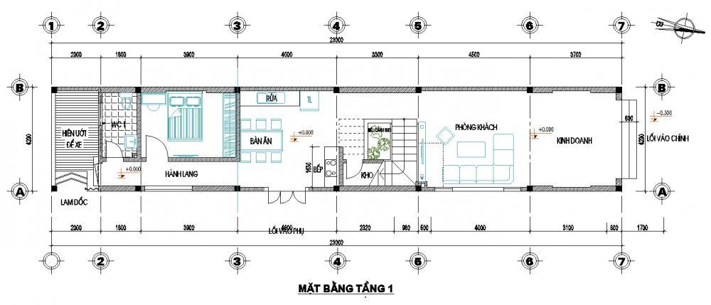 Nhà phố 3 tầng 5x12m