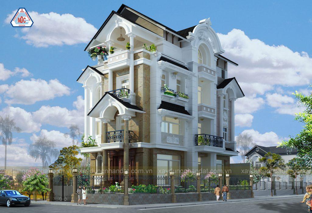 thiết kế kiến trúc - mẫu biệt thự tân cổ điển đẹp