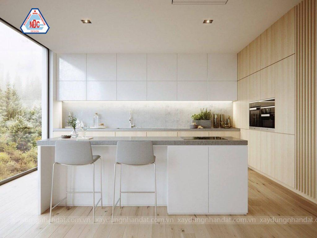 phong cách thiết kế tối giản cho căn bếp