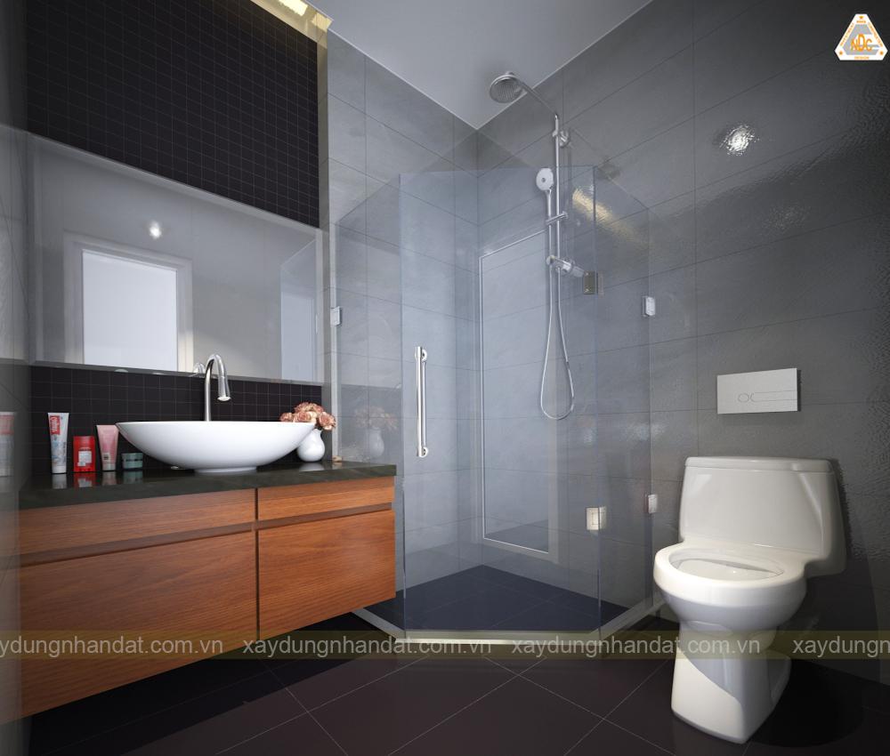 Mẫu tủ ốp gương thiết kế nhà tắm