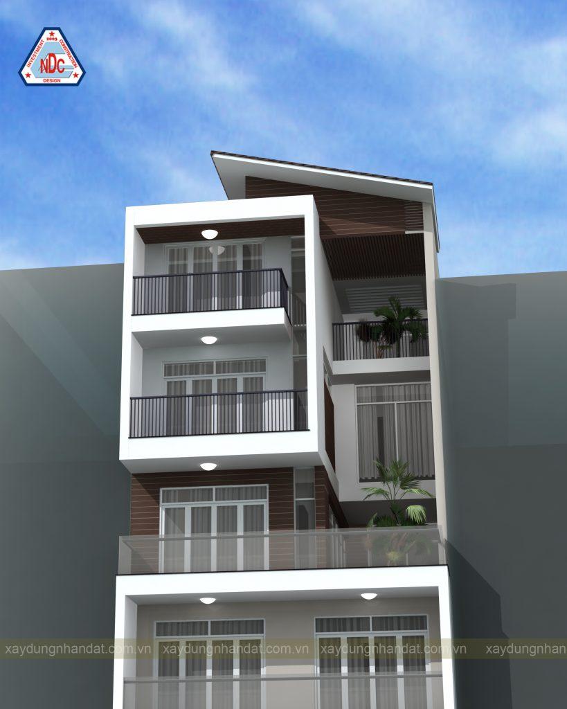 xây nhà trọn gói quận tân bình - mẫu nhà phố 5 tầng