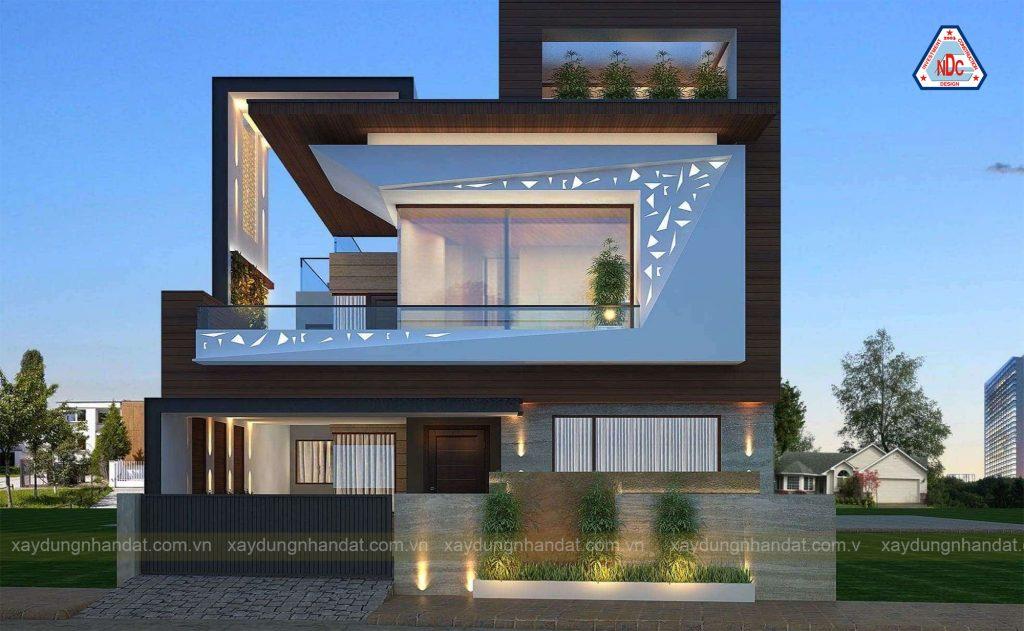 Mẫu thiết kế biệt thự 2 tầng hiện đại , tinh tế .