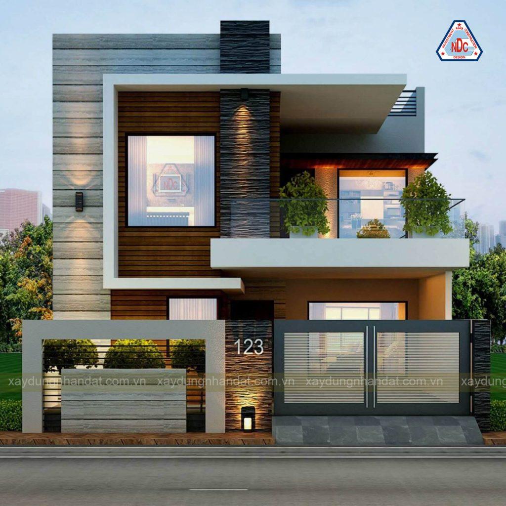 Mẫu thiết kế biệt thự 2 tầng hiện đại , sang trọng
