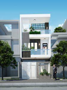 Thiết kếnhà phố 2 tầng đẹp hiện đại thực sự là những dự án phổ biến