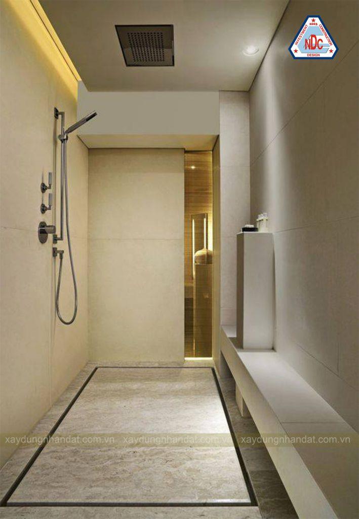 thiết kế phòng tắm nhà phố