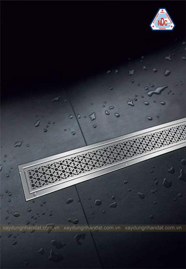 ý tưởng thiết kế rãnh thoát nước phòng tắm