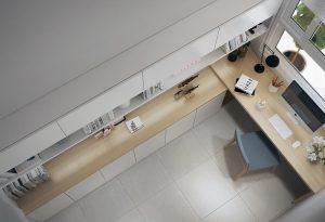 Không gian hiên đại khi kết hợp cùng màu sắc đơn giản sẽ tạo nên đẳng cấp cho ngôi nhà bạn