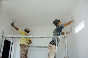 Giai đoạn thi công bột trét tường