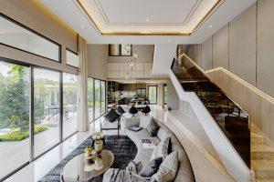 thiết kế nhà phố lệch tầng