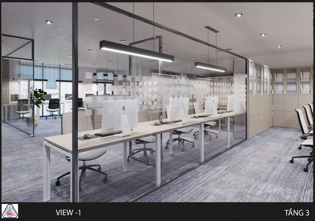Thiết kế không gian mở văn phòng