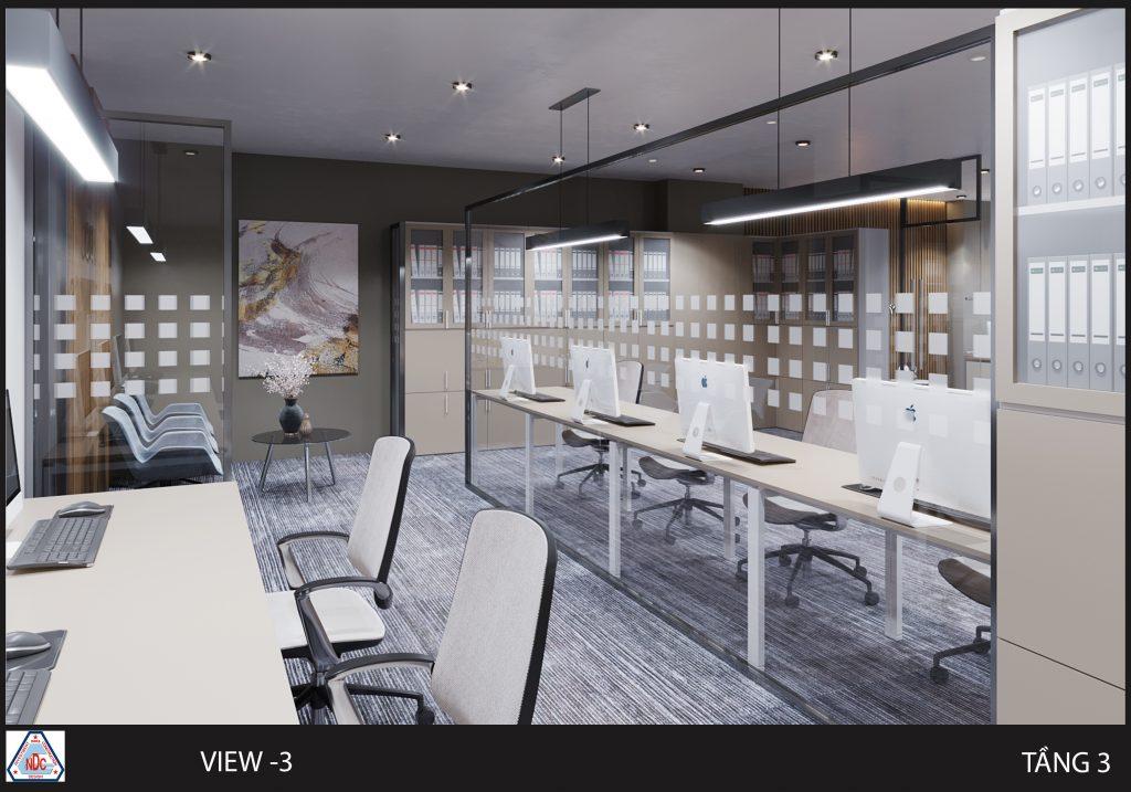 Thiết kế mở không gian văn phòng