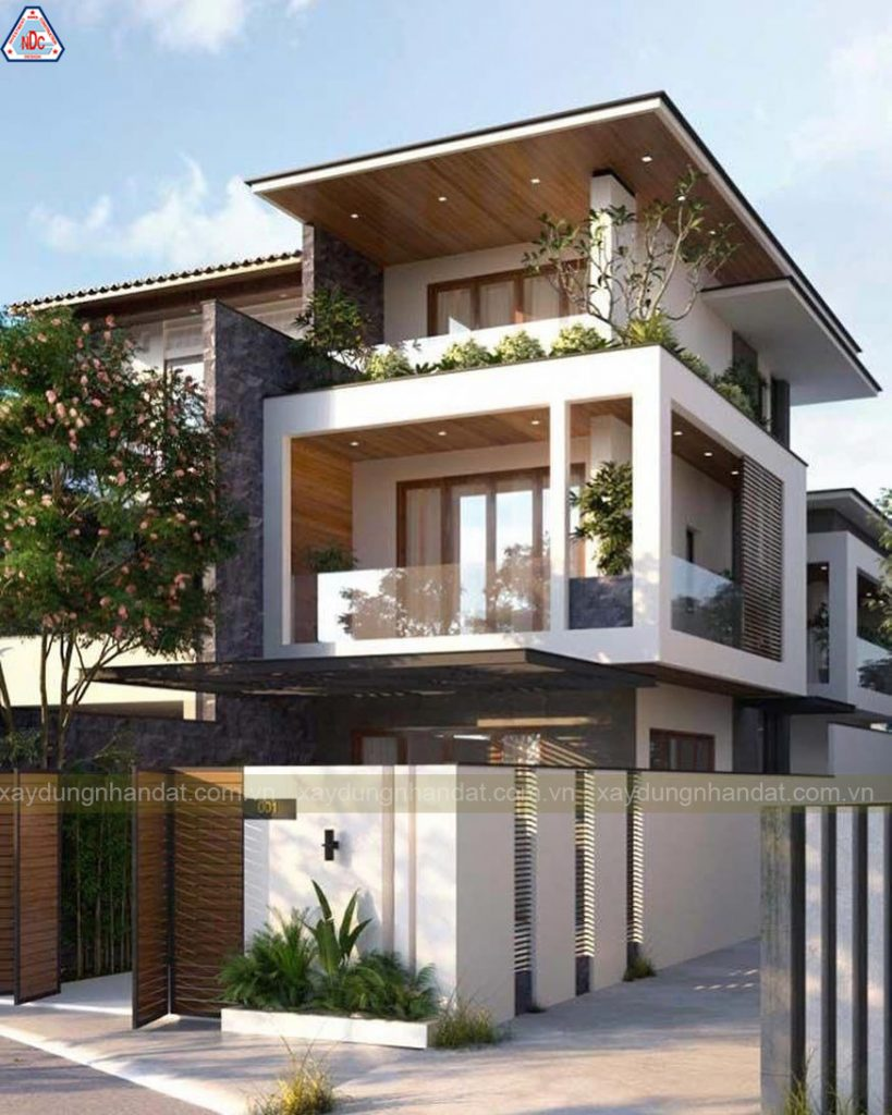 mẫu thiết kế mặt tiền nhà phố-biệt thự