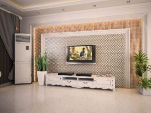 mẫu gạch ốp tường phòng khách cổ điển