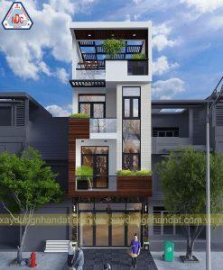thiết kế mặt tiền nhà phố