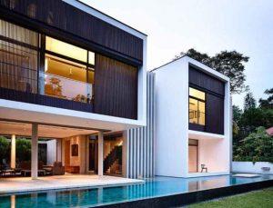 Nhà đẹp 2 tầng với thiết kế rất hiện đại ở Singapore