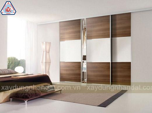mẫu tủ gỗ âm tường phòng ngủ