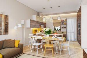 Phòng ăn đẹp thiết kế trẻ trung năng động