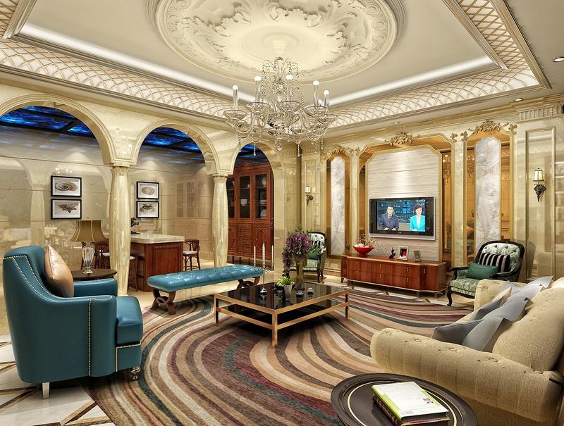 Mẫu thiết kế trần thạch cao phòng khách số 8