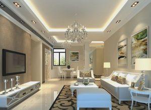 Mẫu thiết kế trần thạch cao phòng khách số 13