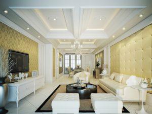 Mẫu thiết kế trần thạch cao phòng khách số 16