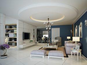 Mẫu thiết kế trần thạch cao phòng khách số 17