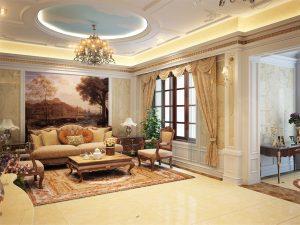 Mẫu thiết kế trần thạch cao phòng khách số 18