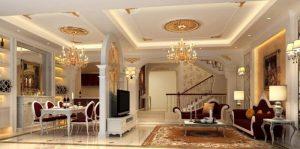 Mẫu thiết kế trần thạch cao phòng khách số 19