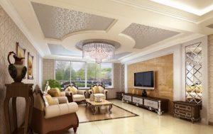Mẫu thiết kế trần thạch cao phòng khách số 20