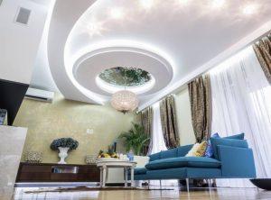 Mẫu thiết kế trần thạch cao phòng khách số 21