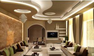 Mẫu thiết kế trần thạch cao phòng khách số 25