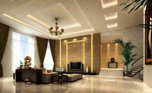 Mẫu thiết kế trần thạch cao phòng khách số 1