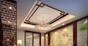 Mẫu thiết kế trần thạch cao phòng khách số 26