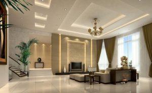 Mẫu thiết kế trần thạch cao phòng khách số 27