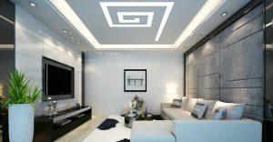 Mẫu thiết kế trần thạch cao phòng khách số 32