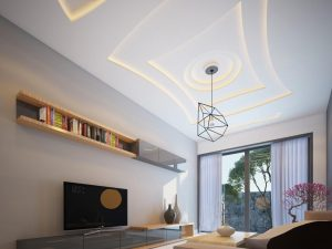 Mẫu thiết kế trần thạch cao phòng khách số 33