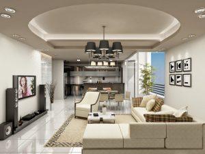 Mẫu thiết kế trần thạch cao phòng khách số 34