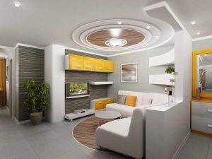 Mẫu thiết kế trần thạch cao phòng khách số 35