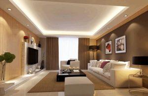 Mẫu thiết kế trần thạch cao phòng khách số 4