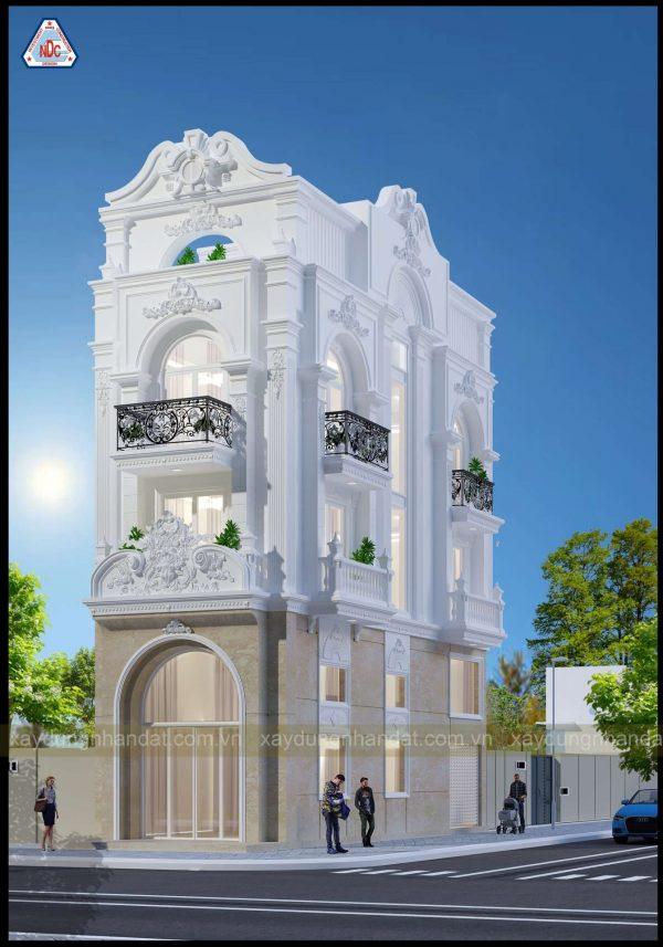 khởi công biệt thự bán cổ điển – hạng mục thiết kế thi công trọn gói