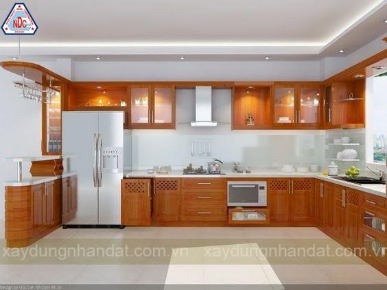Mẫu thiết kế tủ bếp gỗ đẹp
