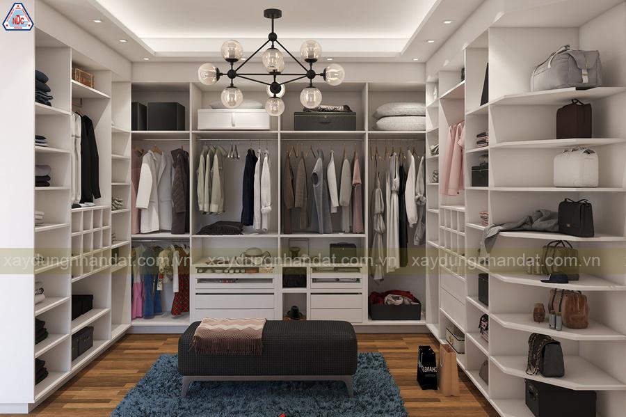 mẫu thiết kế tủ quần áo gỗ hiện đại