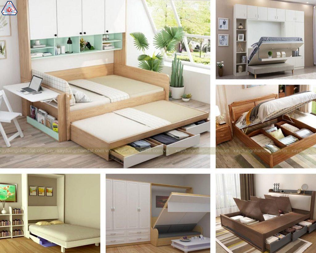thiết kế giường ngủ thông minh
