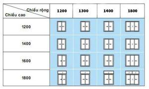 bảng kich thước chuẩn phong thủy
