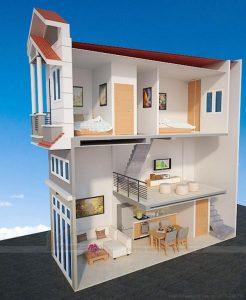 Mẫu thiết kế nhà 1 trệt 1 tầng số 15