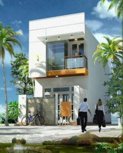 Mẫu thiết kế nhà 1 trệt 1 tầng theo phong cách đơn giản, tiện dụng