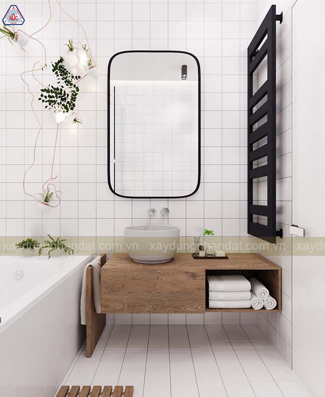 bài trí phòng tắm nhỏ hiện đại