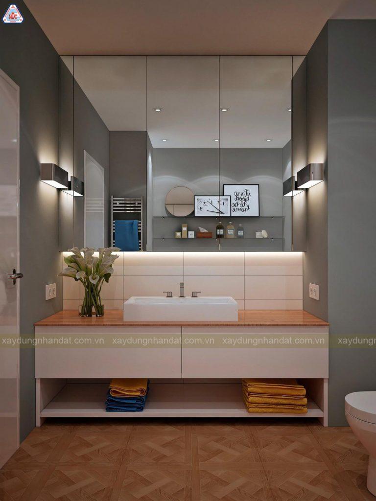 bài trí phòng tắm đơn giản